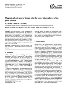 Magnetospheric Energy Inputs Into the Up... by Smith, C. G. A.