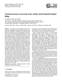 Vertical Structure of Currents in the Vi... by Carollo, C.