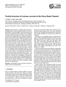 Vertical Structure of Extreme Currents i... by Carollo, C.