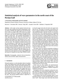 Statistical Analysis of Wave Parameters ... by Parvaresh, A.
