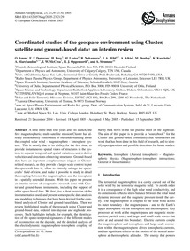 Coordinated Studies of the Geospace Envi... by Amm, O.
