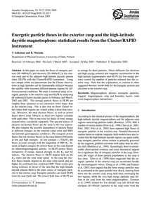 Energetic Particle Fluxes in the Exterio... by Asikainen, T.