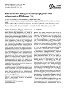 Solar Cosmic Rays During the Extremely H... by Belov, A.