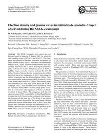 Electron Density and Plasma Waves in Mid... by Wakabayashi, M.