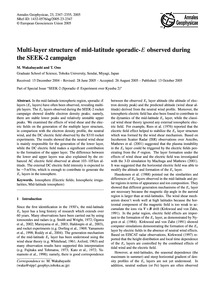 Multi-layer Structure of Mid-latitude Sp... by Wakabayashi, M.