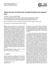 Spatial Structure of Summertime Ionosphe... by Sims, R. W.