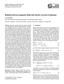 Relation Between Magnetic Fields and Ele... by Vasyliunas, V. M.