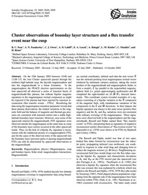 Cluster Observations of Bounday Layer St... by Fear, R. C.
