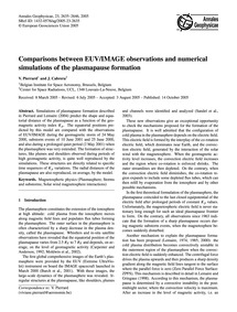 Comparisons Between Euv/Image Observatio... by Pierrard, V.