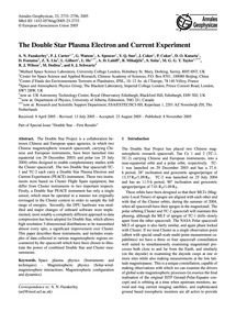 The Double Star Plasma Electron and Curr... by Fazakerley, A. N.