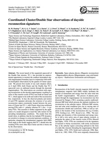 Coordinated Cluster/Double Star Observat... by Dunlop, M. W.