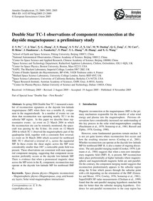 Double Star Tc-1 Observations of Compone... by Pu, Z. Y.
