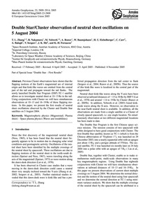 Double Star/Cluster Observation of Neutr... by Zhang, T. L.