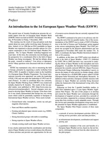 Preface an Introduction to the 1St Europ... by Lilensten, J.