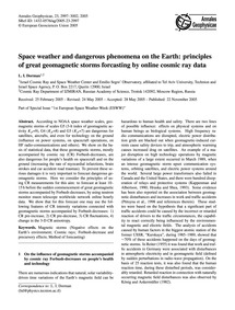Space Weather and Dangerous Phenomena on... by Dorman, L. I.