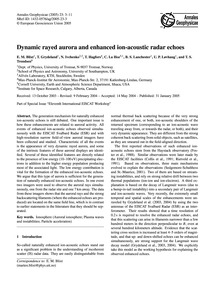 Dynamic Rayed Aurora and Enhanced Ion-ac... by Blixt, E. M.