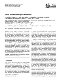 Space Weather and Space Anomalies : Volu... by Dorman, L. I.