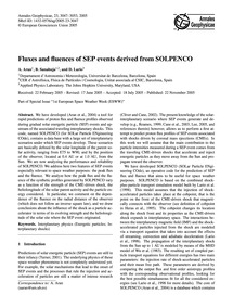 Fluxes and Fluences of Sep Events Derive... by Aran, A.