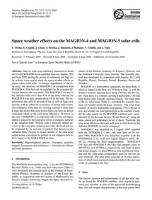 Space Weather Effects on the Magion-4 an... by Tříska, P.