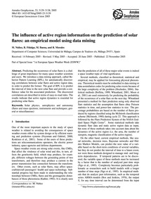 The Influence of Active Region Informati... by Núñez, M.