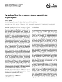 Excitation of Field Line Resonances by S... by Walker, A. D. M.