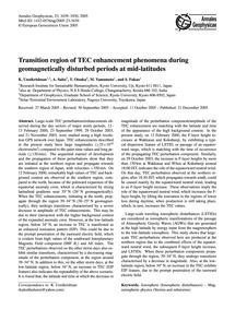 Transition Region of Tec Enhancement Phe... by Unnikrishnan, K.