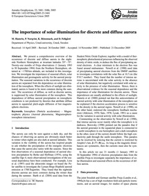 The Importance of Solar Illumination for... by Hamrin, M.