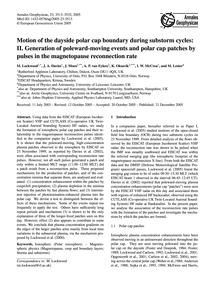 Motion of the Dayside Polar Cap Boundary... by Lockwood, M.