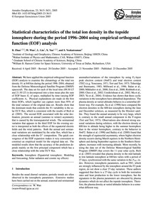 Statistical Characteristics of the Total... by Zhao, B.