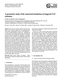 A Parametric Study of the Numerical Simu... by Nunn, D.