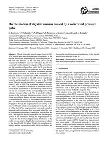 On the Motion of Dayside Auroras Caused ... by Kozlovsky, A.