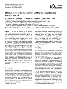Relation Between the Ring Current and th... by Kalegaev, V. V.