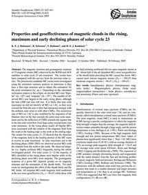 Properties and Geoeffectiveness of Magne... by Huttunen, K. E. J.