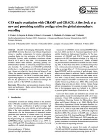 Gps Radio Occultation with Champ and Gra... by Wickert, J.