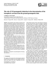 The Role of 3-d Geomagnetic Induction in... by Pulkkinen, A.