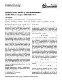 Ionospheric and Boundary Contributions t... by Vasyliūnas, V. M.