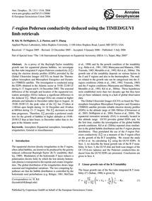F-region Pedersen Conductivity Deduced U... by Kil, H.