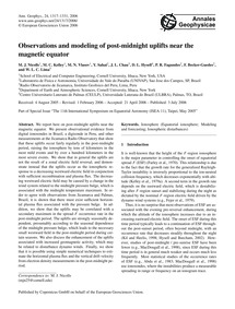 Observations and Modeling of Post-midnig... by Nicolls, M. J.