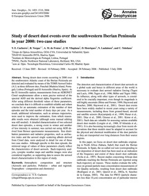 Study of Desert Dust Events Over the Sou... by Cachorro, V. E.
