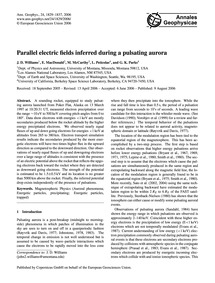 Parallel Electric Fields Inferred During... by Williams, J. D.