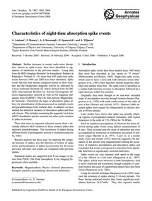 Characteristics of Night-time Absorption... by Aminaei, A.