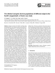Two Distinct Energetic Electron Populati... by Vogiatzis, I. I.