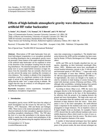 Effects of High-latitude Atmospheric Gra... by Senior, A.