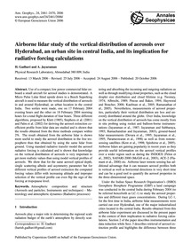 Airborne Lidar Study of the Vertical Dis... by Gadhavi, H.