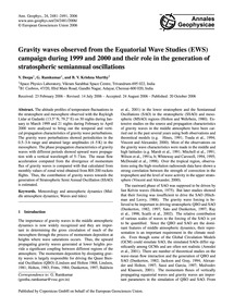 Gravity Waves Observed from the Equatori... by Deepa, V.