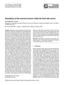 Simulations of the Neutral Structure Wit... by Parish, H. F.