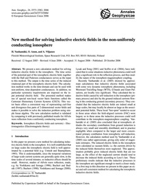 New Method for Solving Inductive Electri... by Vanhamäki, H.