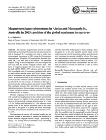 Magnetoconjugate Phenomena in Alaska and... by Hajkowicz, L. A.