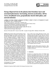 Energy-dispersed Ions in the Plasma Shee... by Keiling, A.