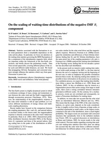 On the Scaling of Waiting-time Distribut... by D'Amicis, R.